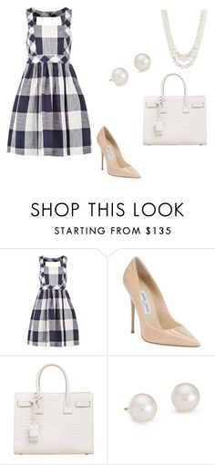 """Untitled #26"" by oliviaf14 on Polyvore featuring Louche, Jimmy Choo, Yves Saint Laurent, Blue Nile and Anne Klein"