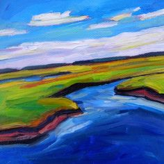 Scarborough Marsh, painting by artist Elizabeth Fraser