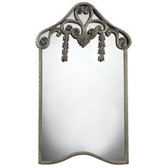 """Parksley 39"""" High Ekersall Antique White Wall Mirror -"""