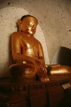 BAGAN GOLDEN BUDDHA Golden Buddha, Bagan, Temple, Statue, Travel, Viajes, Temples, Destinations, Traveling