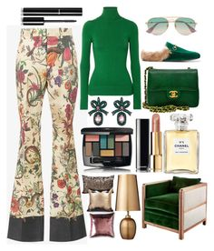 """Turtleneck & All Things Cool"" by pulseofthematter ❤ liked on Polyvore featuring Gucci, JoosTricot, Chanel, Lene Bjerre and American Eagle Outfitters"