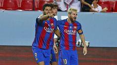Siviglia-Barcellona 0-2, ipoteca blaugrana sulla Supercopa - http://www.maidirecalcio.com/2016/08/15/siviglia-barcellona-0-2-supercoppa-spagna.html