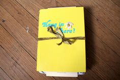 INSPIRATION: All those old sentimental cards laying around? Why not bind them into a book?