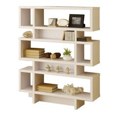 I pinned this Celio 3-Tier Bookcase in Matte White from the Form Meets Function event at Joss and Main!