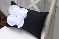 pretty pillow - I love black