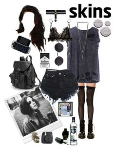 """effy stonem"" by justkatieagain ❤ liked on Polyvore featuring K. Bell, Barry M, Miss Selfridge, Isabel Marant, Fuji and AmeriLeather"