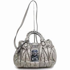 dfcc8296cac0 Authentic Miu Miu Hand Bag Metallic Leather 345277  fashion  clothing   shoes  accessories  womensbagshandbags (ebay link)