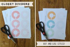 FREE Kids Closet Hanger Dividers - Printables on { lilluna.com } Such a great way to organize your closets!