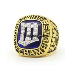 1987 Minnesota Twins World Series Championship Ring. Best gift from www.championshipringclub.com for Minnesota Twins fans. Custom your own personalized championship ring now.