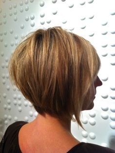 Asymmetrical Stacked Bob Haircut: Short Hairstyles Ideas