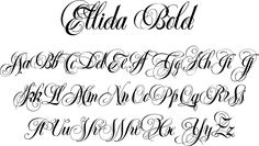 Calligraphy Letters Awesome Tattoos Letterpress Ellida Bold Font By Wiescher Design