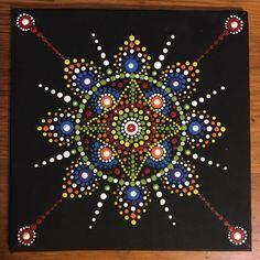 "6"" x 6"" acrylic on canvas - Mandala"