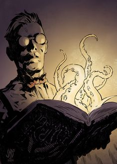 The Dunwich Horror: Meet the Twins, Part 5 a Discussion on the Biology of the Whateley Offspring Hp Lovecraft, Lovecraft Cthulhu, Dark Fantasy, Fantasy Art, Caricatures, Call Of Cthulhu Rpg, Cthulhu Art, Character Art, Character Design
