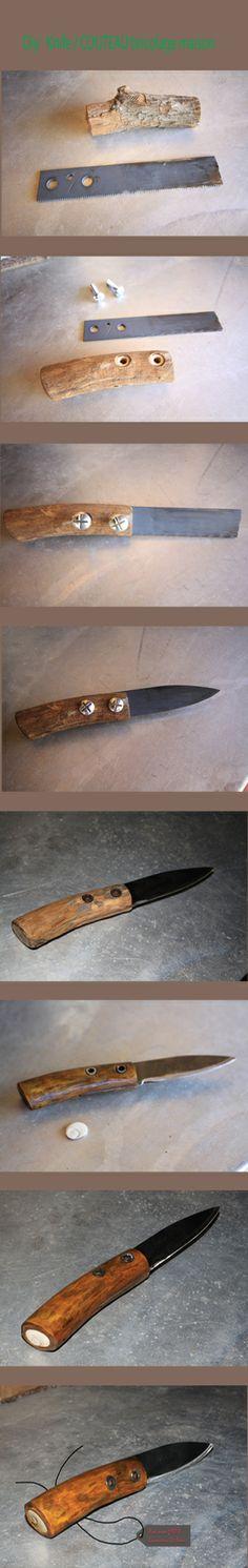 Diy Kinfe  montage du couteau