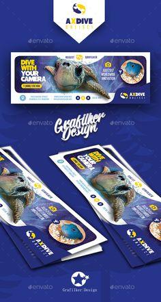 Ocean Diving Cover Templates by grafilker Ocean Diving Cover Templates Fully layeredINDDFully Dpi, CMYKIDML format openIndesign or laterCompletely editabl Social Media Art, Social Media Banner, Social Media Design, Banks Advertising, Creative Advertising, Facebook Cover Design, Facebook Timeline Covers, Banners, Web Banner