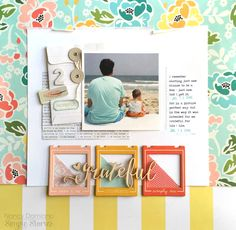 #papercrafting #scrapbook #layout - Grateful - Scrapbook.com - Made with Simple Stories I Am Collection
