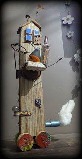 Speed Limit 37. Tiny house en bois flotté et matériaux de récupération