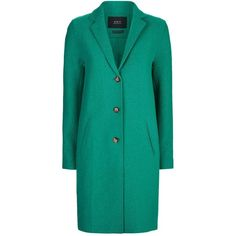 Set Virgin Wool Cocoon Coat (29.535 RUB) ❤ liked on Polyvore featuring outerwear, coats, cocoon coat, green coat and virgin wool coat