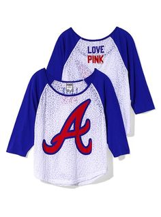 47245557232751 Atlanta Braves Oversized Raglan Tee - Victoria s Secret Pink® - Victoria s  Secret Braves Game