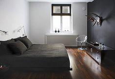 chill, masculine bedroom