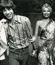 Mick Jagger and Bianca Jagger. Born Bianca Pérez-Mora Macias 2 May Managua, Nicaragua. Bianca Jagger, Mick Jagger, Jade Jagger, Patti Hansen, Moves Like Jagger, Estilo Rock, Kooples, Studio 54, Famous Couples
