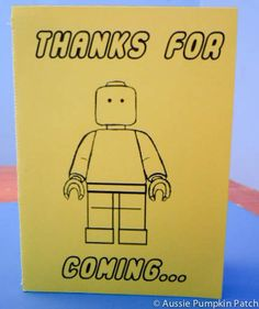Free printables for a LEGO party