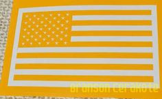 American Flag Vinyl Stencils   We have this stencil and much more for sale in our online store.
