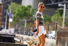 Natalie Joos holding a Philippine bag for Australia Fashion Week 2012! Fashion is #morefuninthephilippines