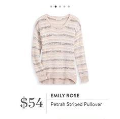 Stitch Fix: Emily Rose Petrah Striped Pullover $54