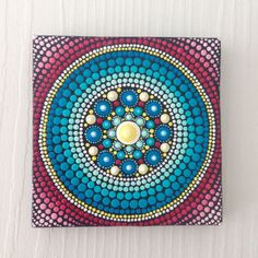 Original Mandala Painting on Canvas, Painting, Office and home ornament Henna art Gift Dotilism Dotart,