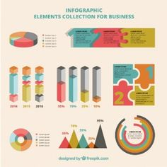 Infographic elements set for business