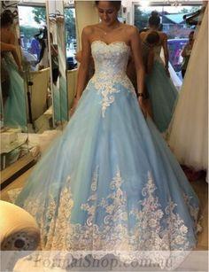 #formalshop find it here: https://www.formalshop.com.au/sleeveless-blue-white-beaded-applique-lace-tulle-a-line-formal-dress-abc812.html