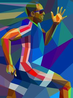 Colorful Geometric Illustrations of London 2012 Olympics - My Modern Metropolis by Tsevis Graphic Design Illustration, Graphic Art, Illustration Art, Mosaic Portrait, Art Moderne, Sports Art, Oeuvre D'art, Artist Art, Olympics