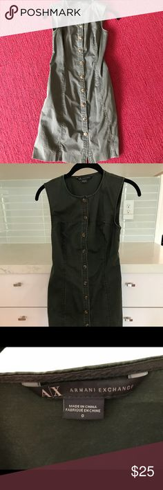 Armani Exchange Jeans Dress Casual jeans dress in mint condition. Armani Exchange size 0. Runs small feels like XS. Armani Exchange Dresses Mini