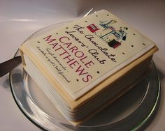 An amazing cake of @Carol Van De Maele Markel Matthews - Author #book aptly named The Chocolate Lovers' Club