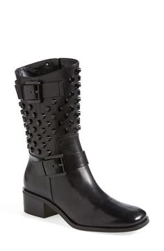 Free shipping and returns on MICHAEL Michael Kors 'Bryn' Studded Moto Boot (Women) at Nordstrom.com. Tonal metal studs punctuate the shaft of a belted moto boot offered in smooth, lustrous vachetta leather.