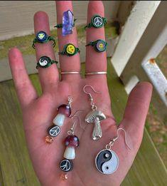 Rock Jewelry, Hippie Jewelry, I Love Jewelry, Crystal Jewelry, Jewelry Making, How To Make Rings, Bijoux Diy, Diy Necklace, Krystal