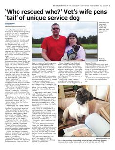 Veteran 12 31 2015  A look back at history, events and stories of local veterans, 'Who rescued who?' Vet's  wife pens 'tail' of unique service dog, PGA and Toys for Tots team up to give a veteran  holiday HOPE, Air Force family keeps it all together, 'A Soldier's Silent Night'