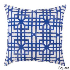@Overstock - Blue Geometric Outdoor Safe Decorative Throw Pillows - Elevate your indoor or outdoor decor with this impeccable pillow. Available in multiple colors and sizes, all are outdoor safe and will resist fading. With a shot of color, and a sense of contemporary charm, this is the perfect pillow for your space.   http://www.overstock.com/Home-Garden/Blue-Geometric-Outdoor-Safe-Decorative-Throw-Pillows/8962898/product.html?CID=214117 $22.99