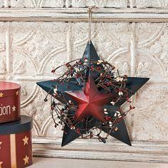 Americana Barn Star Wall Hanging - OrientalTrading.com