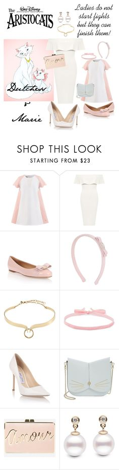 """""""Mother and Daughter"""" by kathrynrose42 ❤ liked on Polyvore featuring Disney, WearAll, Salvatore Ferragamo, Alexis Bittar, Aamaya by Priyanka, Jimmy Choo, Ted Baker and BCBGMAXAZRIA"""