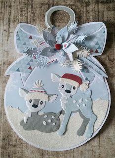 CreAnita: Eline's Cute Animals #1 Christmas Angels, Christmas Tag, All Things Christmas, Christmas Crafts, Felt Ornaments, Card Making, Fabric Books, Christmas 2017, Christmas Cards