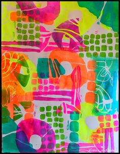 Mixed Media Art Journal page by Maria McGuire using the May 2015 StencilClub stencils designed by Mary Beth Shaw.