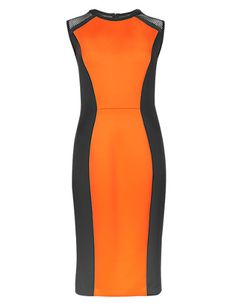 Scuba Colour Block Bodycon Shift Dress | M&S
