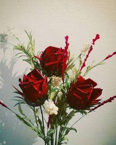 Beautiful Metal Flower Long Stem Roses - Flower bouquet - Flower Arrangement…