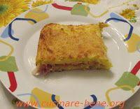 tortino di patate con speck e gorgonzola