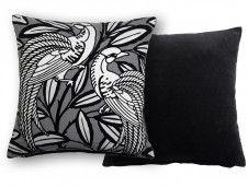 Tailfeather Bowler Black Cushion