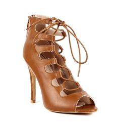 Narrow Sexy Open Peep Toe Lace up Back Zipper Womens 4.5' Corset High Heels Pumps Proms Sandals Party Dress Shoes ^^ Discover this special product, click the image : Lace up sandals