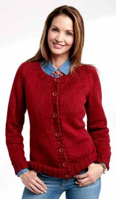 Free knitting pattern for a… Adult Knit Crew Neck Cardigan Free Knitting Pattern. Free knitting pattern for a women's easy cardigan Cardigan En Maille, Knit Cardigan Pattern, Crochet Cardigan Pattern, Sweater Patterns, Sweater Cardigan, Ladies Cardigan Knitting Patterns, Knitting Sweaters, Designer Knitting Patterns, Knitting Designs