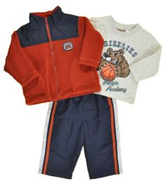 Kids Headquarters Baby Boys 3 Pieces Set Jacket Grizzlies and Pant OrangeWhite 24 Months >>> Check this awesome product by going to the link at the image.Note:It is affiliate link to Amazon. #ilike